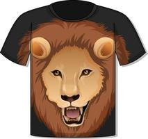 Front of t-shirt with lion face template vector