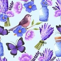 Big Set watercolor elements - butterfly, birds, flowers, jars, leaves. collection of vector elements. illustration isolated on white background. Botanic.