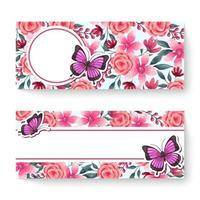 Spring floral banner template with colorful flowers. Can be use for voucher, wallpaper,flyers, invitation, posters, brochure, coupon discount. vector