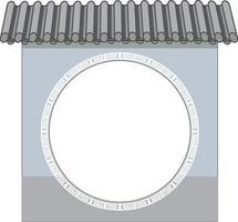 arquitectura de la pared antigua china aislada vector