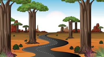 Nature road scene day time vector