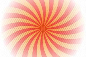 Red, orange spiral background pop art retro vector illustration kitsch drawing