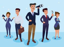 business team character vector