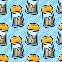 black pepper on bottle seamless pattern illustration vector