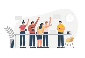 Business people vote in office vector