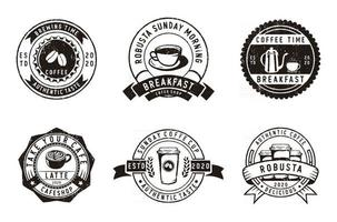 Set of vintage badges coffee, coffee shop and emblems vector