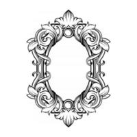Gorgeous baroque frame with blank space vector
