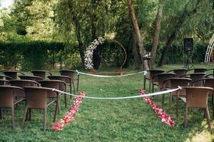 wedding ceremony area photo