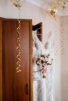 wedding dress with corset and lacing photo