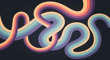 colorful interlace design vector
