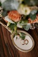 gold wedding rings as an attribute photo