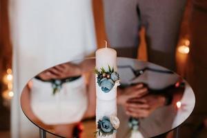 ceremonia de pasar el fuego de la boda de padres a hijos foto