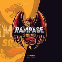 rampage squad esport logo vector
