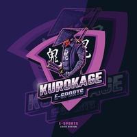 Kurokage samurai esport logo vector