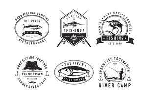 Profesional Sport fishing badges vector