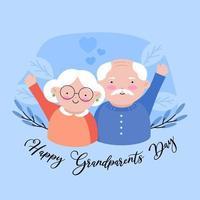 El día de los abuelos se celebra para mostrar el vínculo entre abuelos y nietos. vector