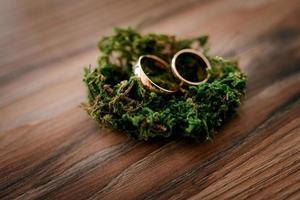 anillos de bodas de oro como atributo foto