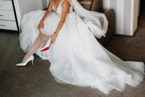 wedding shoes of the bride, beautiful fashion photo