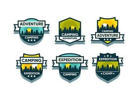 Set the mountain logo and badges. A versatile logo for your business. Vector illustration on a white background