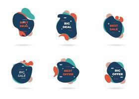 Liquid badges. different services, Gradient group icon. sale element fluid design. Vector illustration.