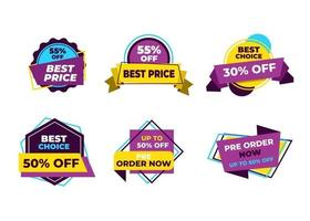 Sale banners and price tag labels, selling card and discount sticker. Best offer vector templates on a white background