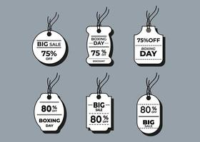 Sale horizontal labels and price tag, selling card and discount sticker. Best offer vector templates on a gray background