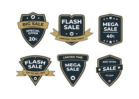 Set of retro vintage sale logo badges on a white background vector