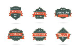 Set of retro vintage sale logo badges vector