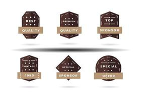 Sale banner and label price design with grey and brown color. Flat badges discount and tags on a transparent background. vector