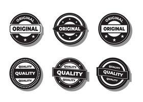 vector de calidad y original sobre un fondo blanco