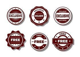 vector de sello gratuito y exclusivo sobre un fondo blanco