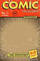 Comic book cover style vintage. Vector illustration.