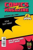 Comic book cover. Vector background colorful.