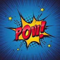 POW, sound effect. Comic book theme. vector