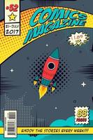 Comic book cover. Concept elements of the space. vector
