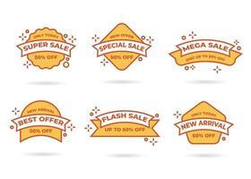 Sale banner templates design. Special offer tags. Super sale discounts. Flash sale discount. Mega sale offer. Big Sale, Special sale, New arrival, Best deal, Discount tag vector