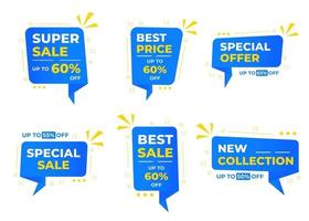 Sale banner templates design. Special offer tags. Super sale discounts. Flash sale discount. Mega sale offer. Big Sale, Special sale, New arrival, New Collection, Best deal, Discount tag vector