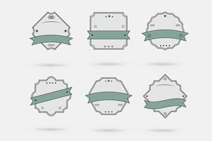 Vector Badge, Labels and Ribbons