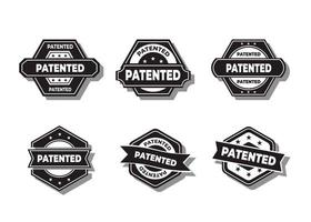 vector de sello patentado sobre un fondo blanco