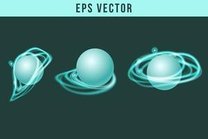 Green Glowing icons vector