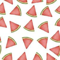 seamless pieces of watermelon in watercolor collection flat vector