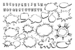 Cartoon comic sign burst bomb explosion, speech bubble, boom sign expression and pop art text frames. vector