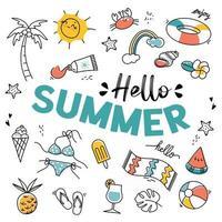 Summer logo and Design Elements vector