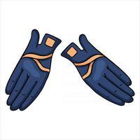 atuendo ropa de jinete para guantes de jinete ilustración en estilo de dibujos animados vector