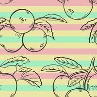 Seamless background with sketch apples vector illustration