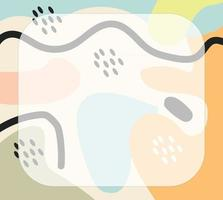 formas abstractas en fondo de vector pastel