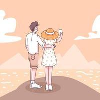 Teenager traveler cartoon character vector
