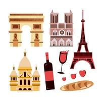 The landmarks historical city buildings and constructions vector
