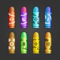 colorful set of Element bullets vector