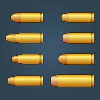 Game bullets with gold color design vector